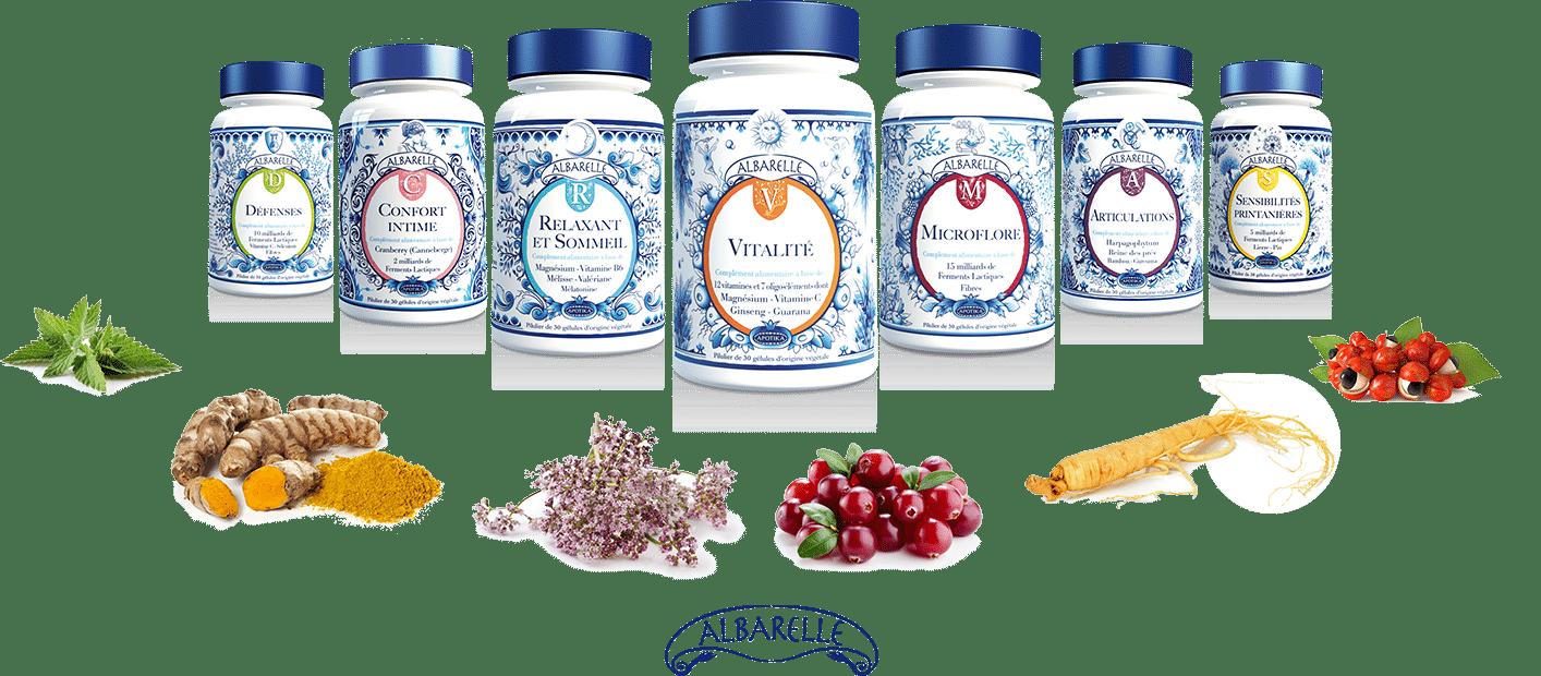 La gamme de compléments alimentaires naturels et bio Albarelle